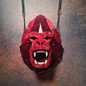 Gorilla Necklace 'Profondo Rosso' by Sstutter