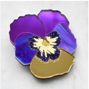 Pansy Hair Clip  (Purple)  by Esoteric London