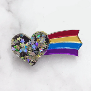 Heart Rainbow Brooch by Esoteric London