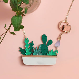 Houseplant Window Box Necklace by Little Moose