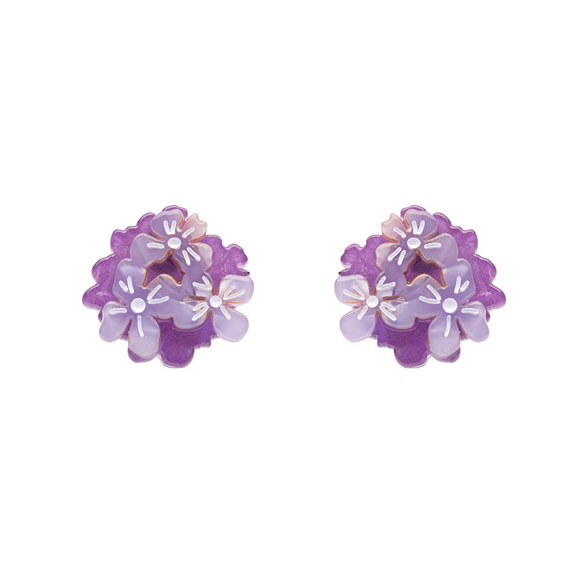 Heartfelt Hydrangea Earrings by Erstwilder