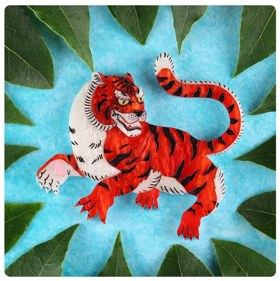 Japanese Tiger Brooch by Gory Dorky
