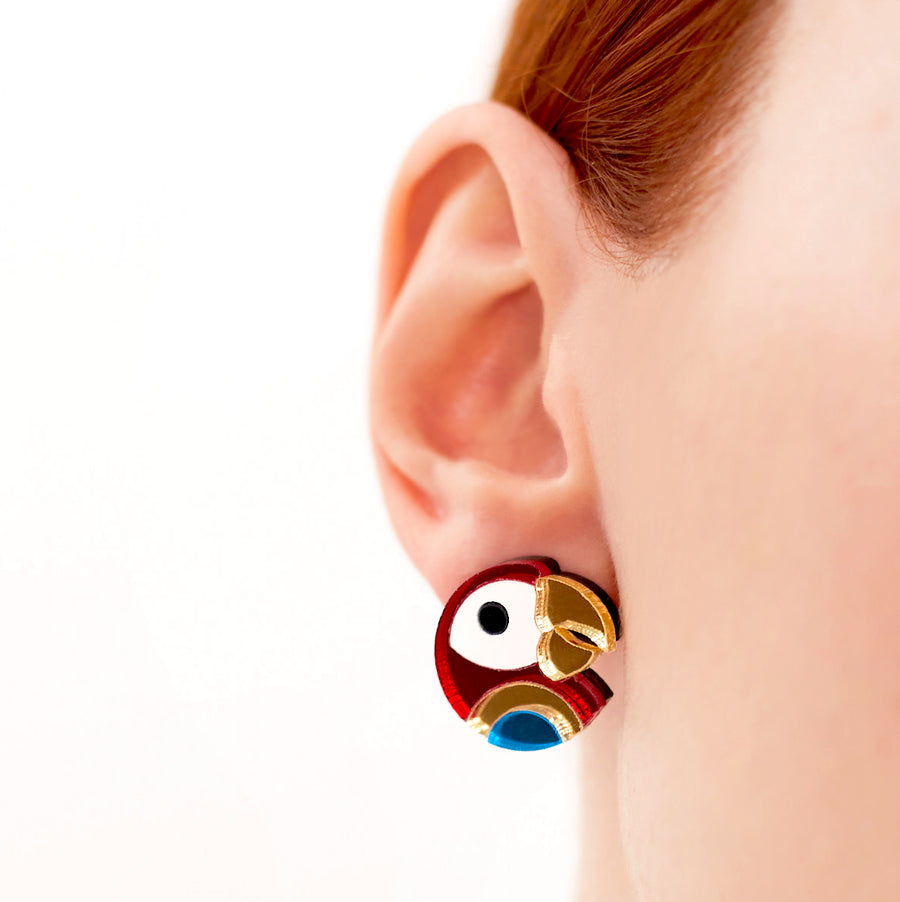 Parrot Studs by Monolama
