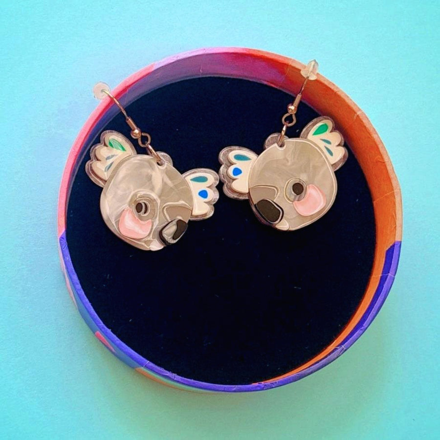 The Kuddly Koala Earrings by  Erstwilder x Pete Cromer