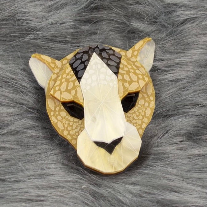 Leopard Head Brooch (Lost City) by Sstutter
