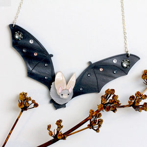 Long Eared Bat Necklace by Little Moose