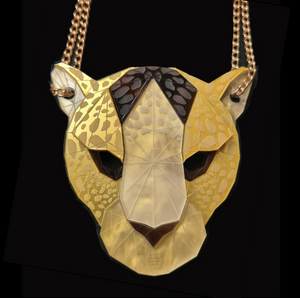 Leopard Head Necklace (Lost City) by Sstutter