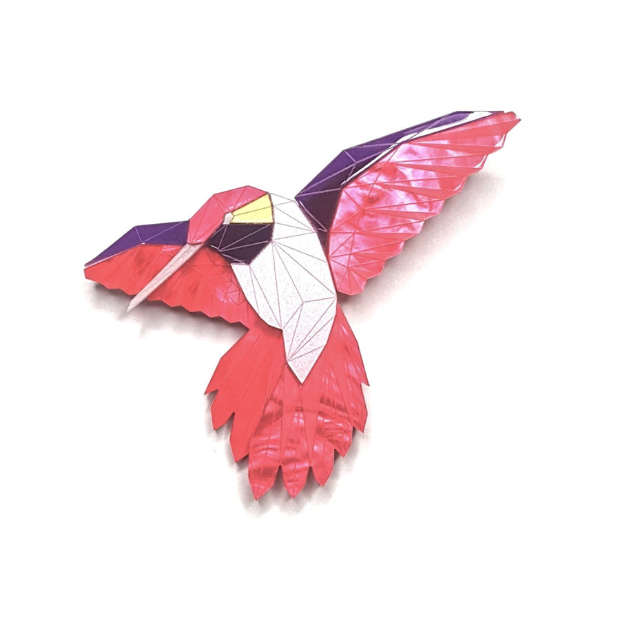 Hummingbird Brooch (Magenta Jewel) by Sstutter