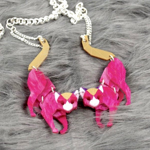 Black Cat (Magenta Jewel) Necklace by Sstutter