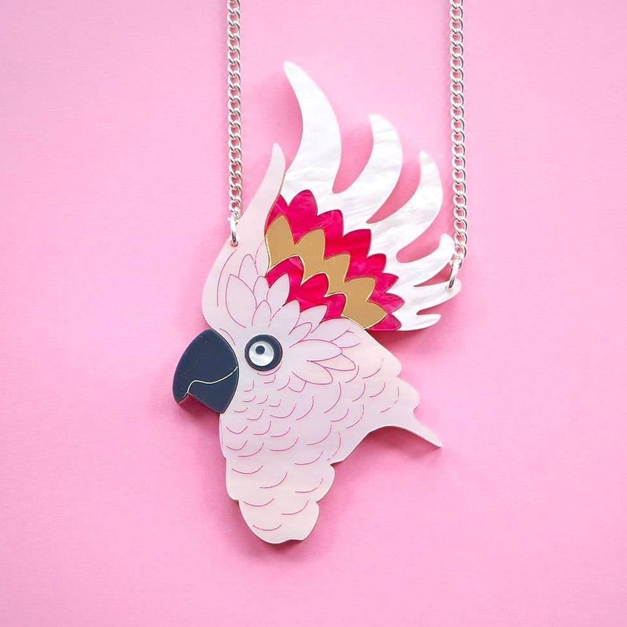 Major Mitchell Cockatoo Necklace by Designosaur