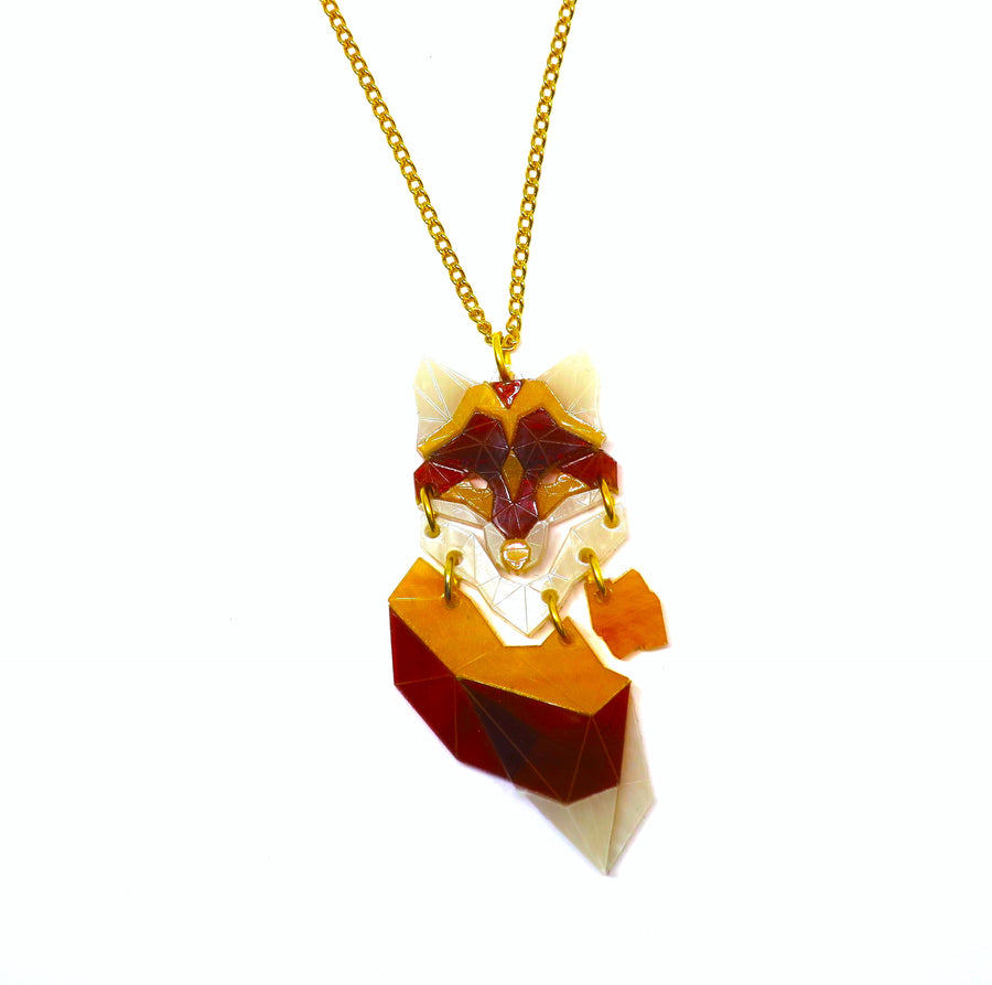 Demi Fox Pendant Necklace  (Marble)by Sstutter