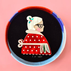 Mrs. Clause Brooch by  Erstwilder x Pete Cromer