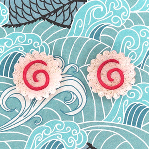 Narutomaki Earrings by Gory Dorky