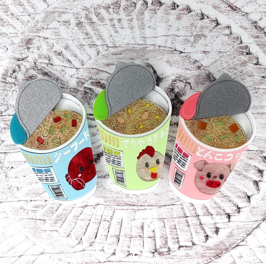 Instant Noodles Brooch by Gory Dorky ( choose from 3 types)