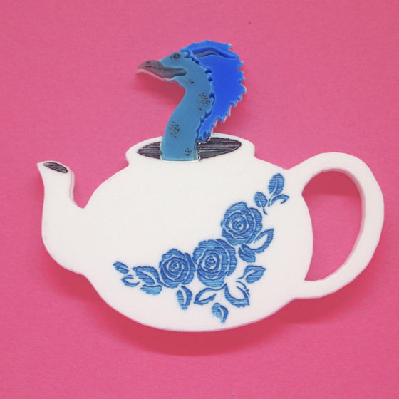 Occamy Teapot Brooch by Snikt and Bamf