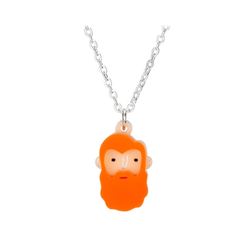 Mini Orange Beardies Necklace by Little Moose