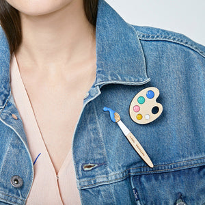 Palette  Brooch (Pastel) by Monolama