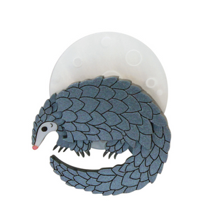 Pangolin Brooch by Little Moose