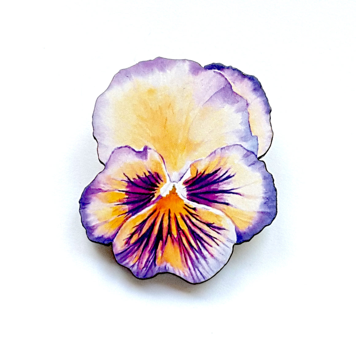 Watercolour Pansy Brooch (Purple) by Esoteric London