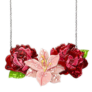 Tickled Pink Rose, Lily & Peony Necklace (Large) by Erstwilder