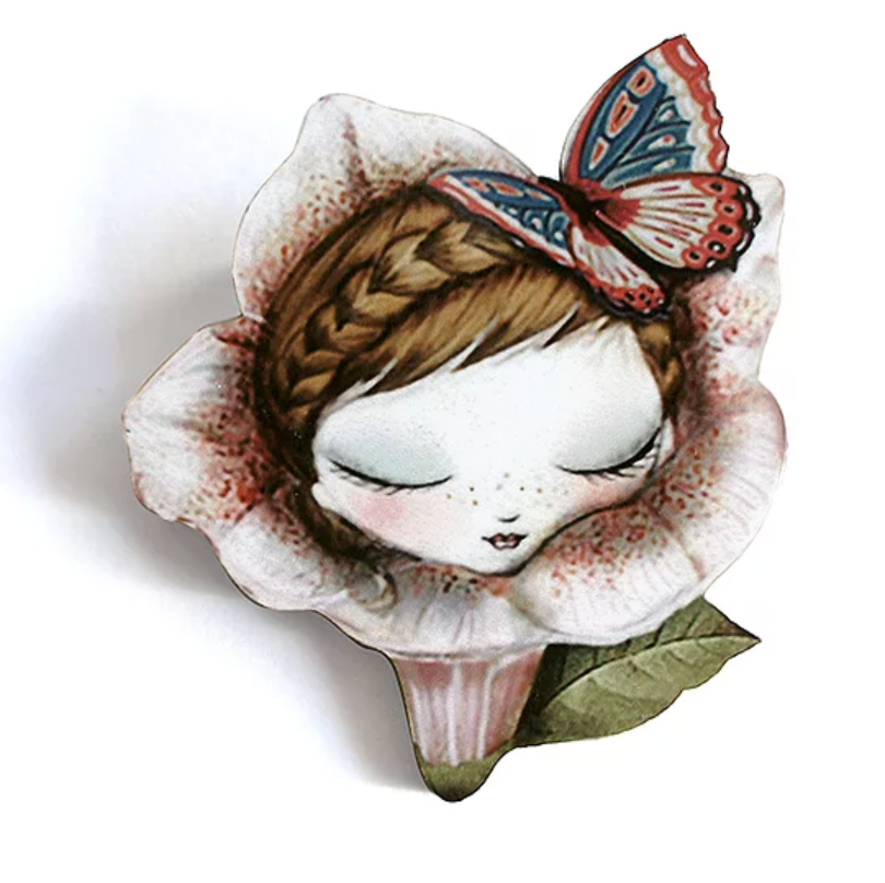 Petunia Brooch by LaliBlue