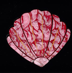 Pink Shell Brooch by Lou Taylor