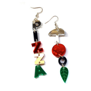 Pizza Dangly Earrings by Little Moose