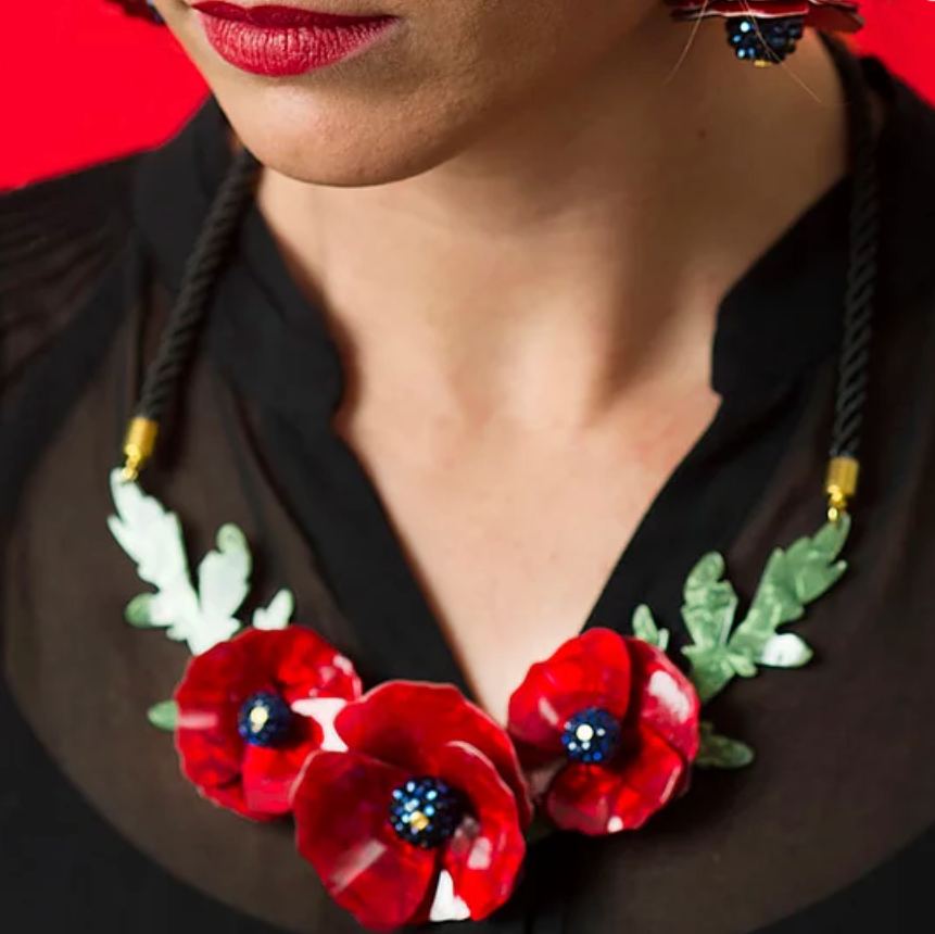 Poppies Necklace by LaliBlue