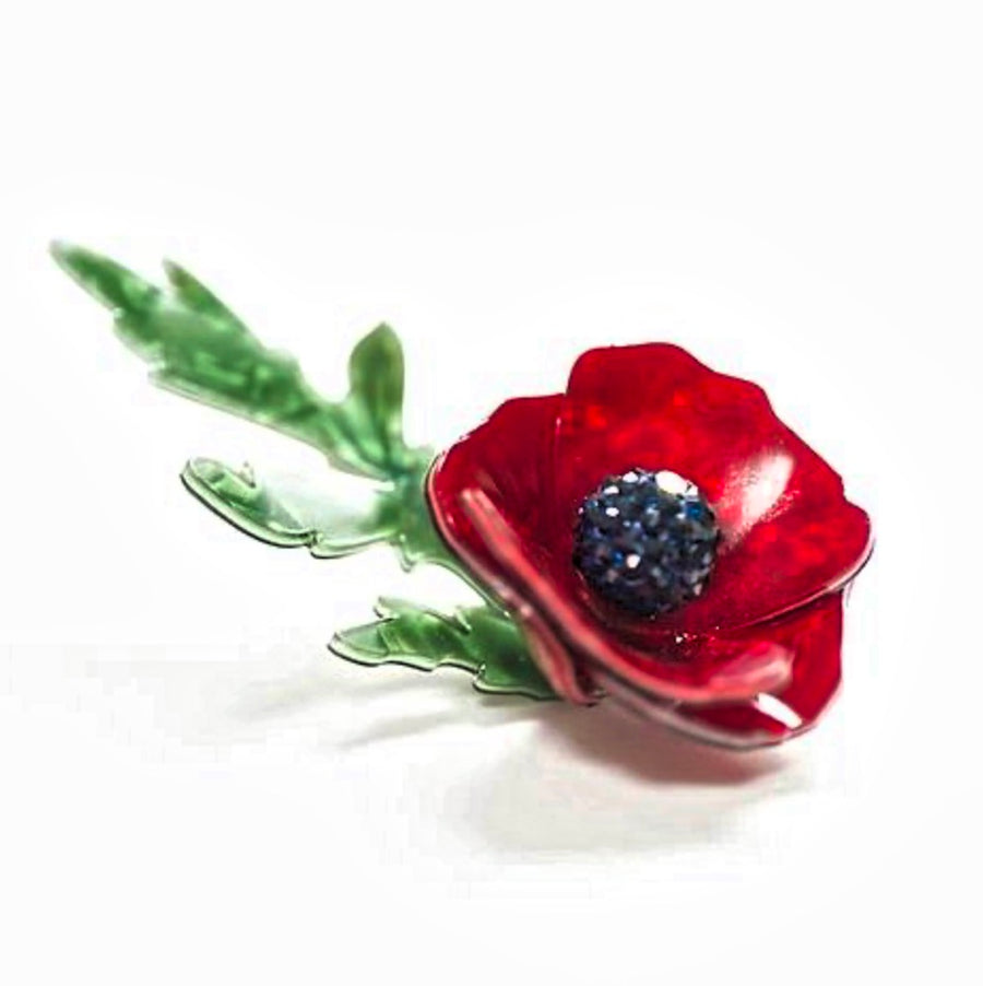 Poppy Brooch by LaliBlue