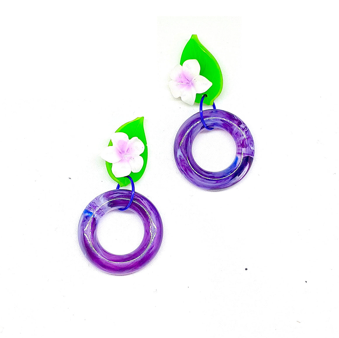 Hoop-Dee-Do Plumeria Hoop Earrings