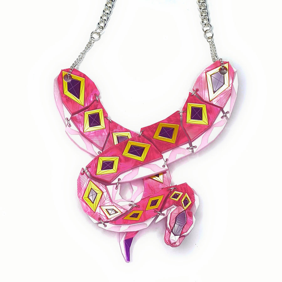 Python (Magenta Jewel) Necklace by Sstutter