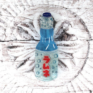 Ramune Bottle Brooch by Gory Dorky