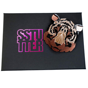 Tiger Head Brooch (Rose Lux Exclusive) by Sstutter