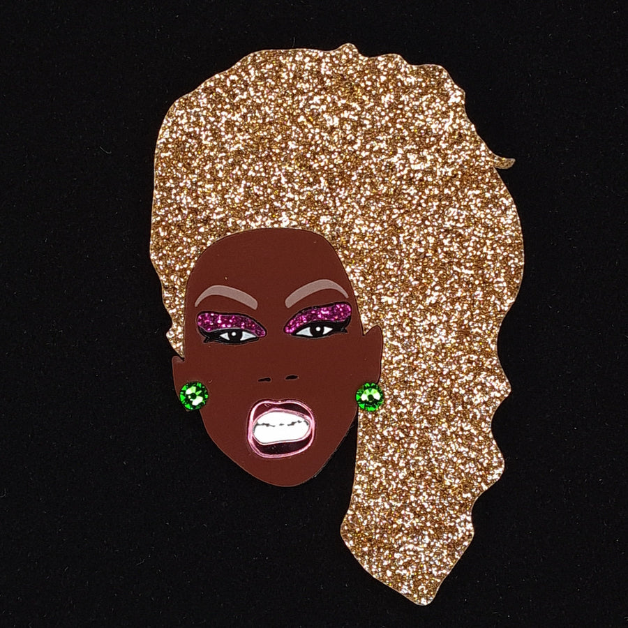 Ru Paul Brooch by Lou Taylor