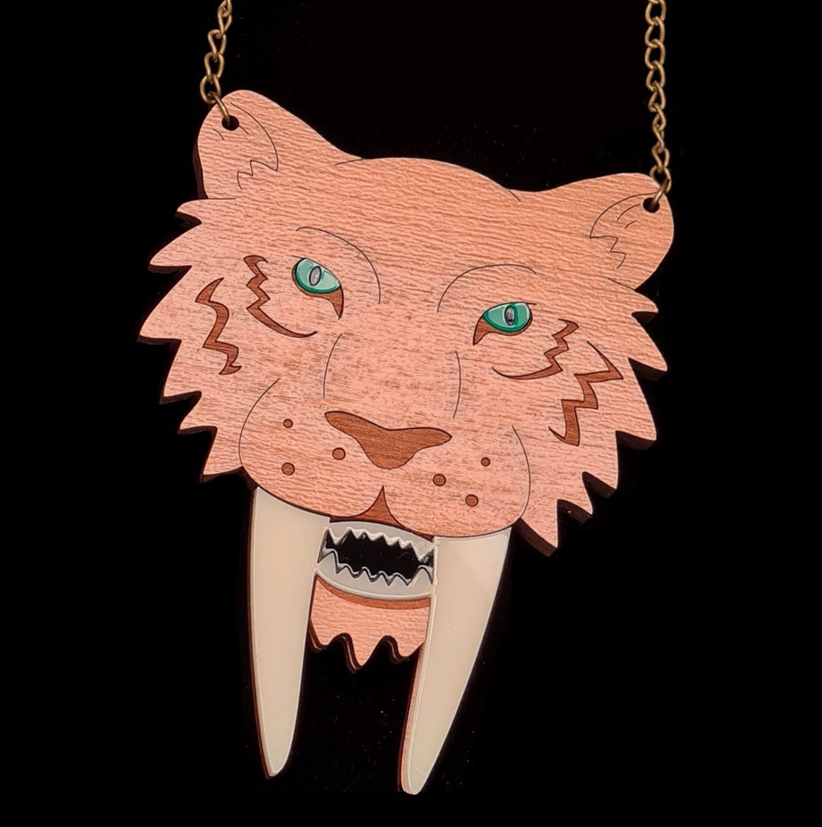 Sabre Tooth Tiger Necklace by Designosaur