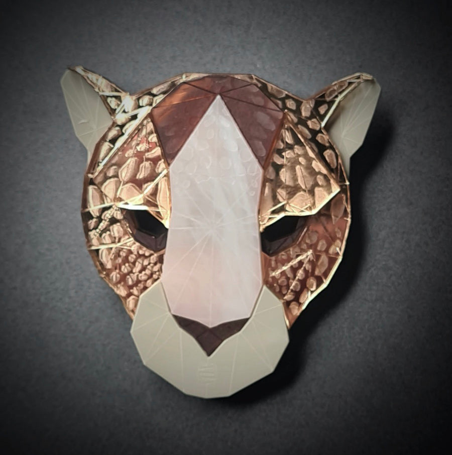 Leopard Head Brooch (Safari) by Sstutter