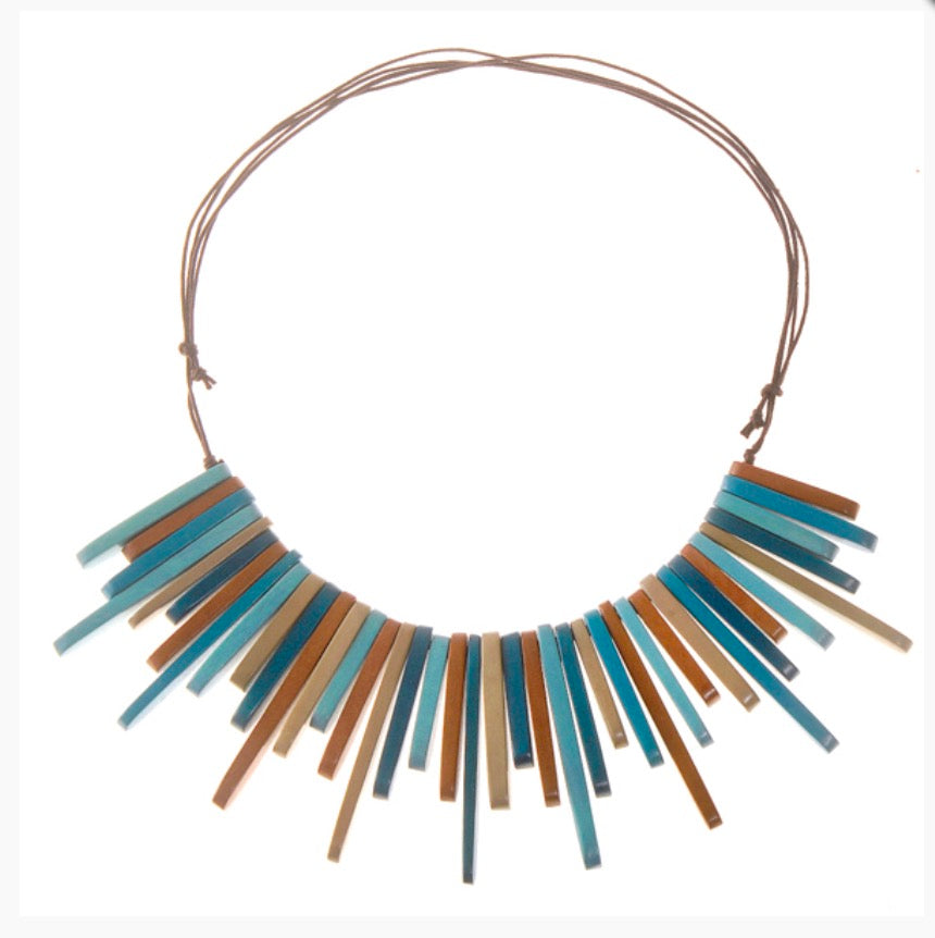 Seaside Blues Rays Adjustable Necklace by Cool Coconut