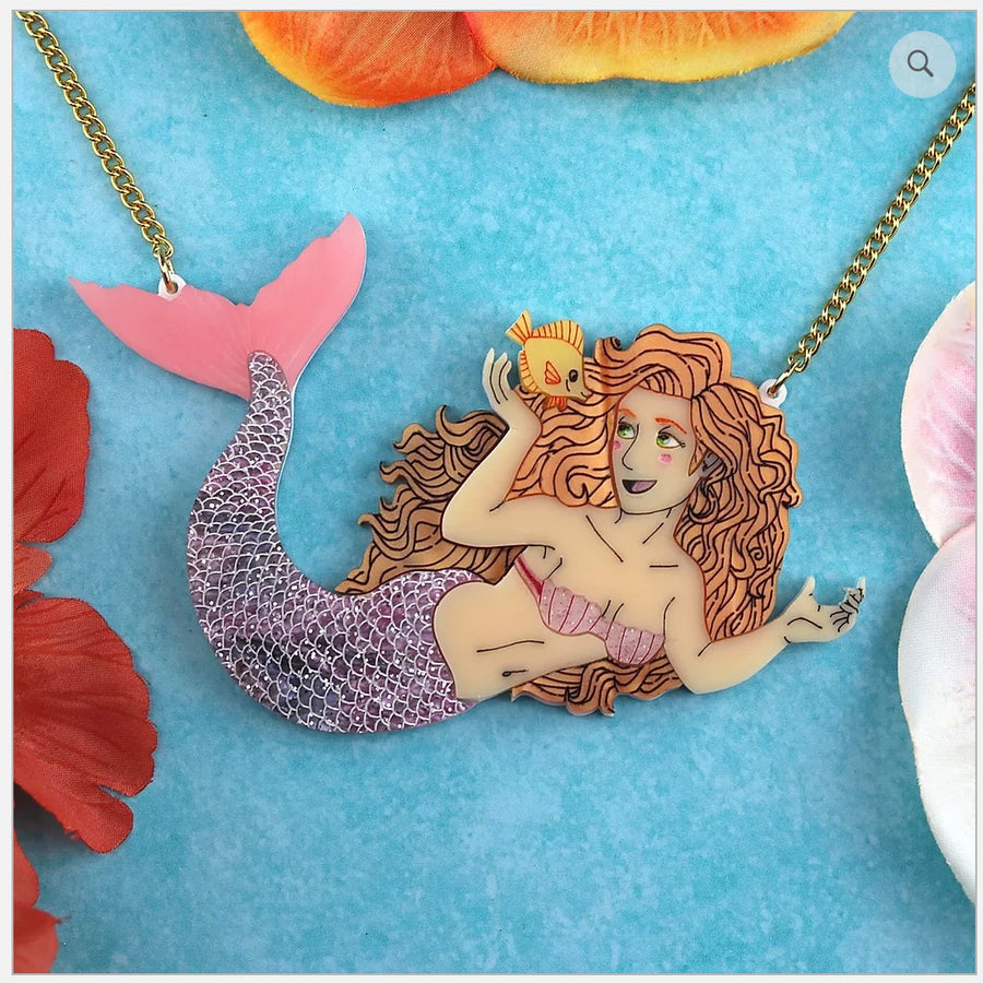 Mermaid Statement Necklace by Gory Dorky