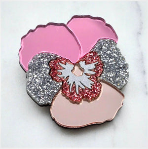 Pansy Hair Clip  (Light Pink)  by Esoteric London