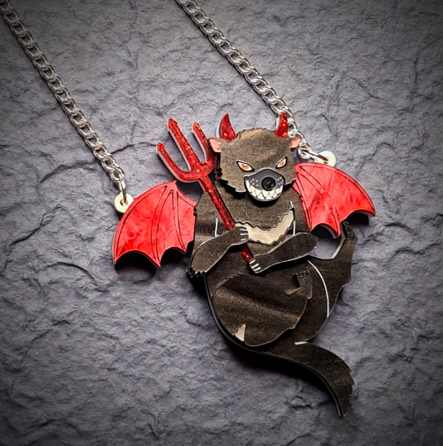 Devilish Tasmanian Devil Necklace  by Gory Dorky