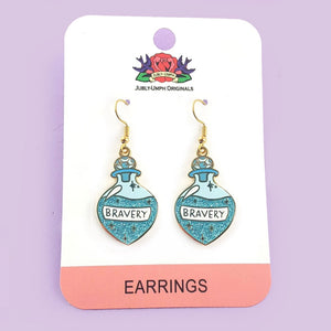 Brew of Bravery Potion Earrings by Jubly Umph