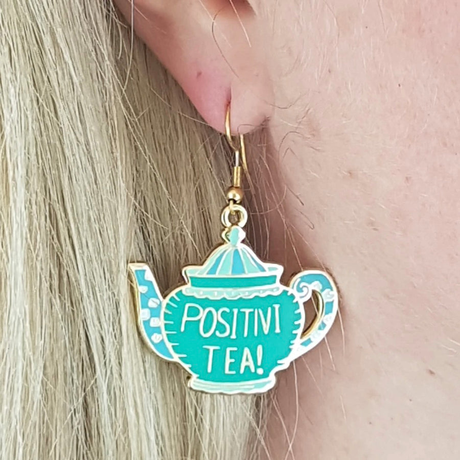 Positivi-Tea-Pot Earrings by Jubly Umph