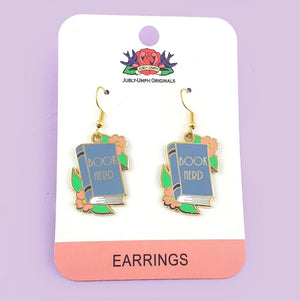 Book Nerd Earrings by Jubly Umph
