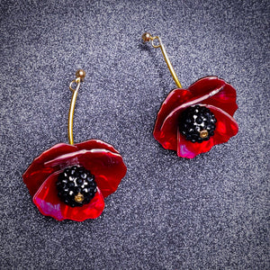 Poppy Earrings by LaliBlue