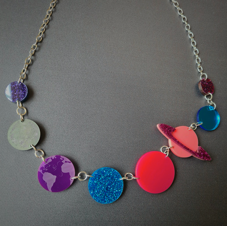 Solar System Necklace (Galaxy) by Sugar and Vice