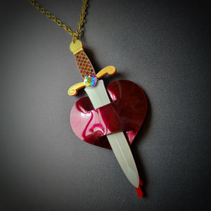 Wounded Heart Necklace by Sugar and Vice