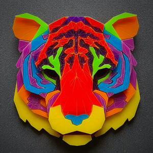 Tiger Head Brooch 'I Believe in Me' by Sstutter