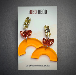 Amber Arches Earrings by Little Red Head