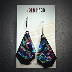 Abolone Nights Geo Drops Earrings by Little Red Head