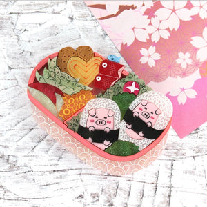 Bento Box Brooch by Gory Dorky